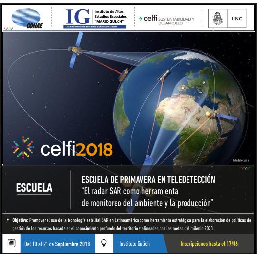CELFI | Escuela de primavera en teledetección: El radar como herramienta de monitoreo del ambiente y la producción