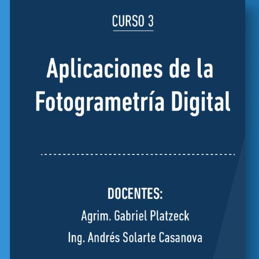CURSO | Aplicaciones de la Fotogrametría Digital