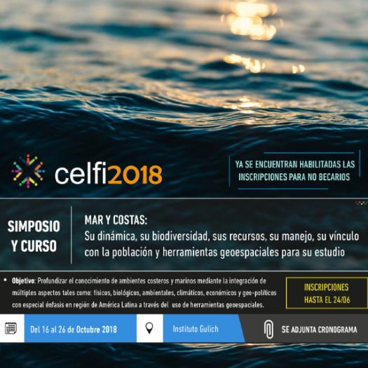 CELFI | Mar y Costas: Su dinámica, biodiversidad, recursos, manejo, vínculo con la población y herramientas geoespaciales para su estudio