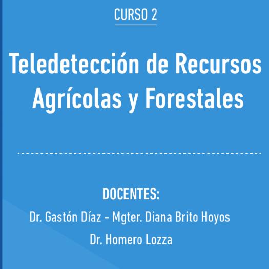 CURSO | Teledetección de recursos agrícolas y forestales