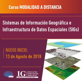 CURSO | Sistemas de Información Geográfica e infraestructura de datos espaciales (SIGs)